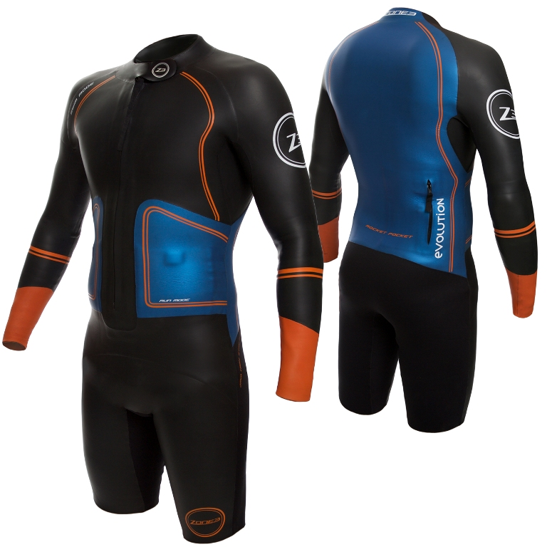 Zone3 Evolution Wetsuit - Cutout - Front&Back-