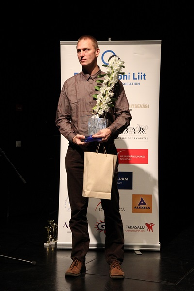Jüri Käen 2014 parimate autasustamisel 1 (Foto Jüri Suurkivi)